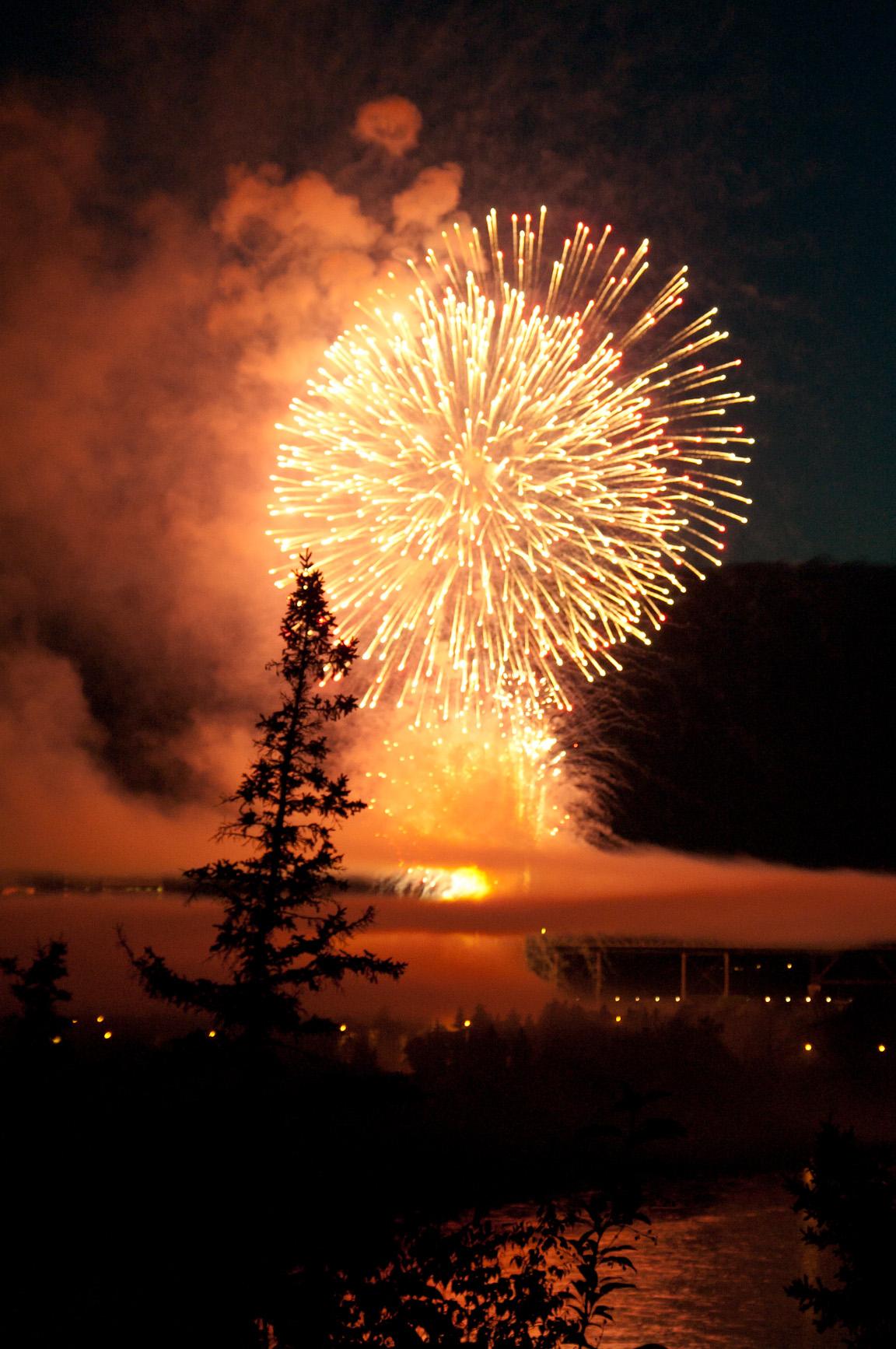 Canada Day fireworks, 2012